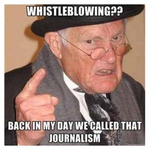 Whistleblowing=journalism