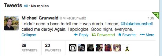 Grunwalds seneste undskyldning...