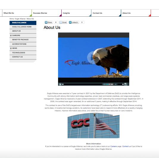Fra CSC pg Eagle Alliance hjemmeside